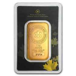 1 Oz Gold Bar - Royal Canadian Mint Old Style In Assay - Sku 72805