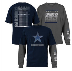 New Nfl 3-in-1 3 Looks In 1 Tee Shirt Combo Dallas Cowboys Large