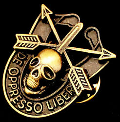 Special Forces Skull Crest Di Pin Uniform Us Army Sf Airborne Sog Insignia Antq