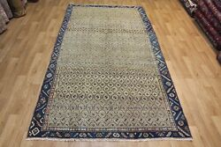 Antique Persian Malayer Rug Handmade Rug Oriental Carpet 10 X 5and0392 Ft