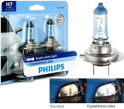 Philips Crystal Vision Ultra H7 55w Two Bulbs Head Light Replace Motorcycle Bike