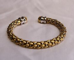 Magnificent 18k Gold Diamond Italian Bracelet Signed Must See