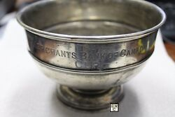 Merchantand039s Bank Of Canada Sterling Presentation Cup Made By Birks Wt. 275gmooak