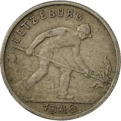 [425236] Luxembourg, Charlotte, Franc, 1946, Ef40-45, Copper-nickel, Km46.1
