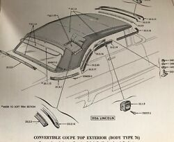 New- 1956 And 1957 Lincoln Convertible Top Tech Support- 1 Hour - New