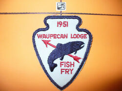 Oa Waupecan Lodge 197, 1951 Fish Fry,patch,pp,rainbow Council,morris,illinois,il