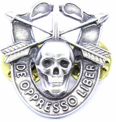Special Forces Skull Crest Di Pin Uniform Us Army Sf Airborne Sog Insignia 88