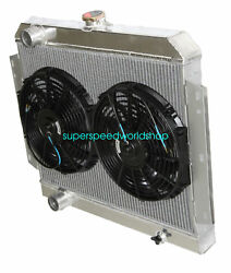 3 Row Performance Radiator+12 Fans Fit 66-69 International Scout V8 Mt