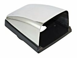 Clam Shell Vent Stainless Steel Cowl With Plastic Base For Duct Hose 76mm=3 Inch