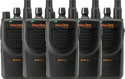 5 Pack Motorola Bpr40 Mag One Uhf 450-470mhz 8 Channel 4w Two Way Radio Ni-mh