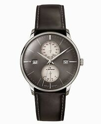 Junghans Watch Meister Agenda Day Date Week Power Reserve Grey Dial Automatic