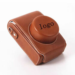 Pu Leather Camera Bag Case Cover Pouch For Leica D-lux Typ 109 Typ109 Brown