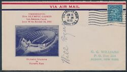 Will Rogers Autograph On June 15, 1932 Olympic Games Cover Bu552