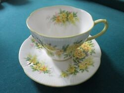 Royal Albert Blossom Time Laburnum England Floral Cup And Saucer [65]