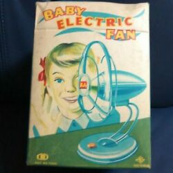 Vintage Rare Item Tinplate Toy Unused Baby Election Fan From Japan