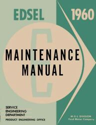 1960 Edsel Ranger Villager Shop Service Repair Manual Engine Drivetrain Wiring