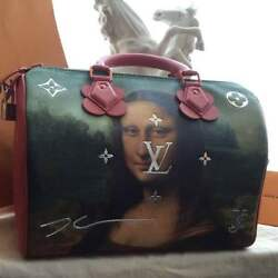 Rare Item LOUIS VUITTON MASTERS Speedy Mona Lisa Bag From JAPAN FS