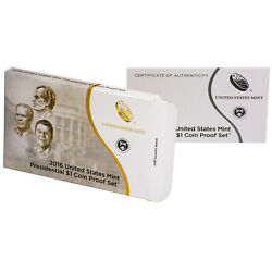 Empty Packaging Replacement Proof Presidential Dollar Set Box No Coins 2016