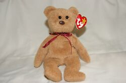 EXTREMELY RARE Ty Beanie Baby 'Curly' Retired Bear with Tag Error + PVC Pellets