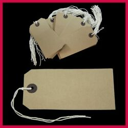 Manila Brown Buff Strung Tie On Tags Labels Retail Luggage Tags 120mm X 60mm St5