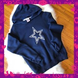 Victoria's Secret Pink Dallas Cowboys Nfl Football Collection Hoodie Sweater L
