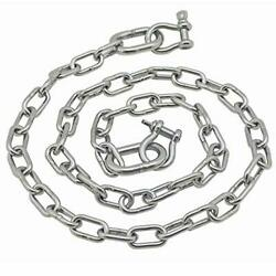Stainless Steel 316 Anchor Chain 1/4 X 4and039 3006.6578 Oversized Ends
