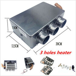 3-Hole Vehicle Car Portable Heating Heater Fan Defroster Demister DC 12V 80W