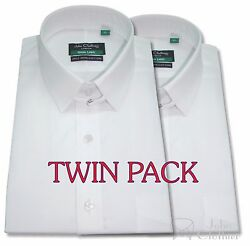 Mens Tab Collar Shirt Cotton Bond Collar Cuff Links Gents French Cuff Pack Of 2