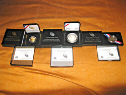 Baseball Hall Of Fame Coins 75th Anniversary Commemorative Proof 2 Sets 6 Coins.