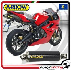 Arrow Exhaust Indy Race carbon Approved Triumph Daytona 675 2006