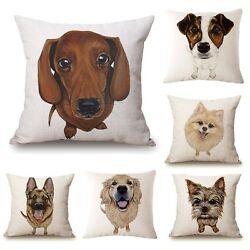 Dog Puppy Animal Throw Cushion 45cm Stuffed Cover Gift - All Breeds in Stock