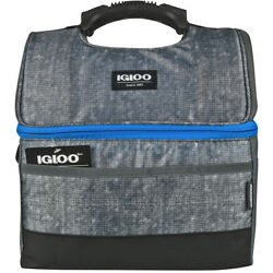 IGLOO MaxCold Gripper 16 Can Lunch Box Gray $30.99