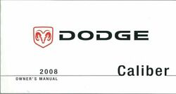 2008 Dodge Caliber Owners Manual User Guide Reference Operator Book Fuses Fluids