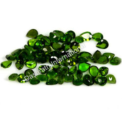 Natural Chrome Diopside Pear Faceted Cut 3x4mm -6x8mm Green Color Loose Gemstone