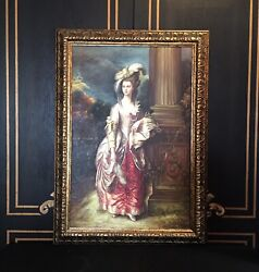 1970's Hand Made Reproduction Oil Painting French Aristocrate.