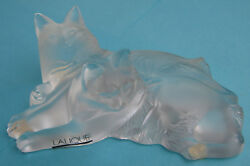 Lalique Crystal Figure Two Reclining Cats  Happy & Heggie #11798 Glass Figurine