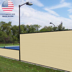 Customize 3ft Beige Vinyl Coated Fence 100 Privacy Commercial Garden Screen