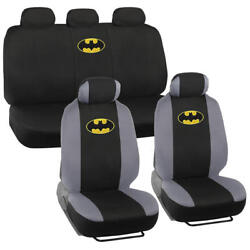 Official Batman Seat Covers For Car And Suv - Front And Rear Full Set Original Logo