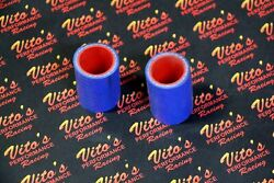 2 X Vitoand039s Yamaha Banshee Exhaust Pipe Clamps 1 Fmf Toomey Blue Silicone 87-06