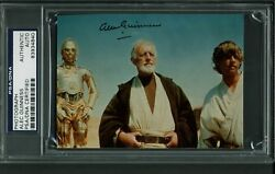 Alec Guinness Star Wars Authentic Signed 3.5x4 7/8 Photo Psa/dna Slabbed