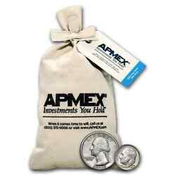 Us 90 Silver Coins Average Circulated 100 Face Value Bag Full Dates