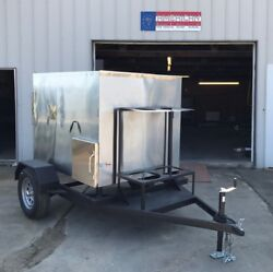 Insulated 48 X 48 Rotisserie Smoker W/ Trailer - Call Before You Buy