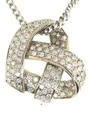 Diamond Heart Pending .95 Tcw 14kw Gold With 16 Inch Long Chain