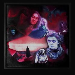 Original Painting And039winter Is Comingand039 Framed Canvas Game Of Thrones Art