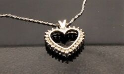 1tcw Diamond Heart Pendant In 14kt. White Gold On A 20 Chain With Lobster Clasp