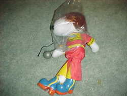 1977 Rock Star Snoopy Peanuts Doll Ideal 14 Figure W/wig Microphone And Shoes