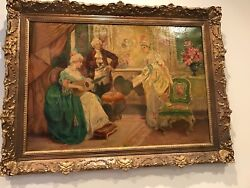 Signed Antique French Parisian Painting