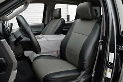 FORD F 150 2015 2020 BLACK CHARCOAL IGGEE S.LEATHER CUSTOM FIT FRONT SEAT COVER $149.00