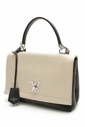 Louis Vuitton Lockme II Crossbody Calfskin Bag - Vanille Noir