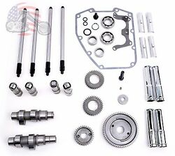 Andrews Sands Gear Drive Cams Set Pushrods Lifters Engine Kit Harley Twin Cam 26g
